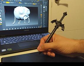 Wacom tablet pen head Zelda Master 3D printable model