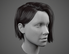 3D asset Low poly realistic Realtime Hair