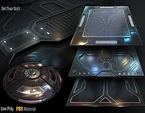 3D model low-poly Scifi Floor Set