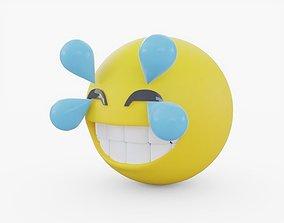3D asset Emoji Happy Crying