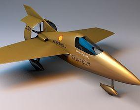3D asset Miller JM-2 Formula 1 Racer Rigged