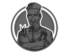 3D printable model barber shop Emblem