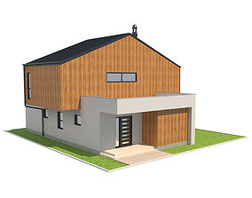 Contemporary House 5 3D model 3d