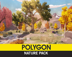 3D asset animated POLYGON - Nature Pack