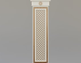 3D model Arabic ornate square column