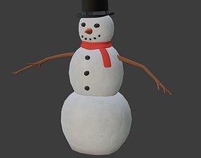 Snowman 3D asset rigged