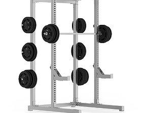 3D model Gym Half Rack