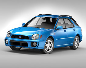 3D Subaru Impreza Wagon 2000 - 2007