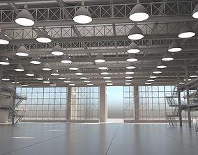 Warehouse Interior Exterior 3D model
