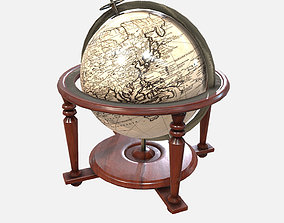 Low Poly PBR Celestial Globe 3D asset