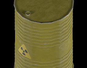 oil barrel radiation danger 3D model
