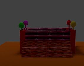 3D asset Viking Baby Bed