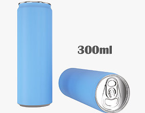 Beverage slim can 300ml 3D model