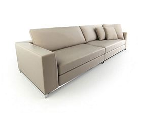 3D model Retro Beige Couch