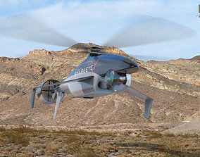 3D model Sharkeye X Unmanned Helicopter