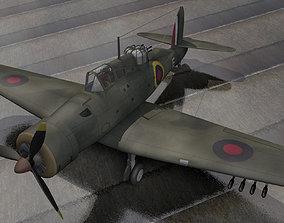 plane Blackburn B-25 Roc Mk-1 3D