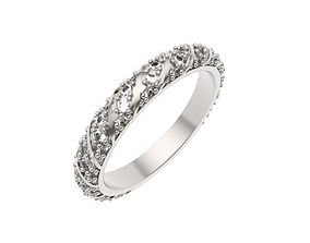 Twisted Design Eternity Ring 3D printable model