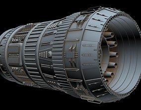 Big starship engine 3D