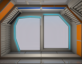 Sci Fi Room 3D model realtime table
