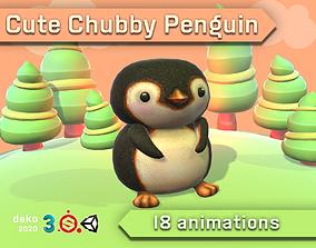 3D model Cute Chubby Penguin
