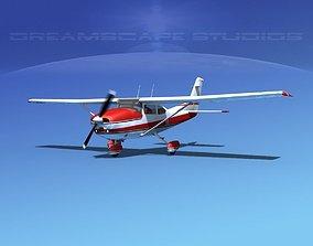 3D model animated Cessna 182 Skylane V01