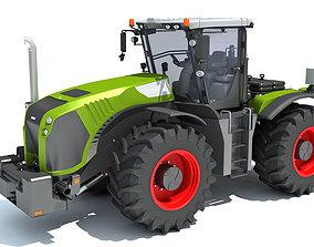 Farm Tractor 3D model harvest