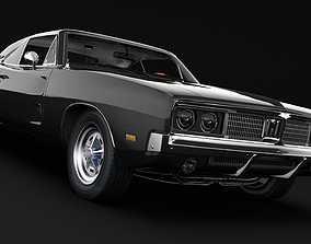 3D model rigged DODGE CHARGER road