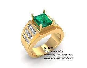 1236 luxury korea diamond ring for men 3D printable model