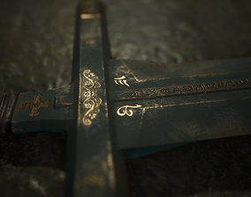 Medieval Sword - Two hand - Magic - Weapons 3D asset