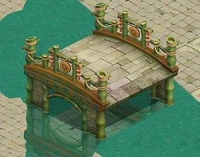 3D Cartoon world - love flooding bridge