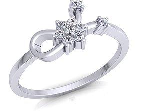 Woman Ring 3d Model Print jewellery