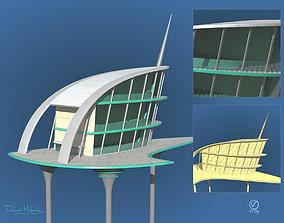3D Sci-Fi Architecture Skyscraper 04