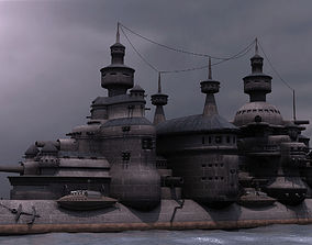 3D Steampunk Cruiser