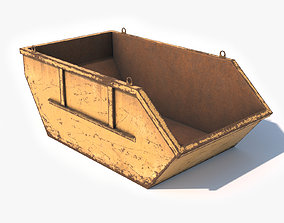 3D asset Trash Container Low Poly