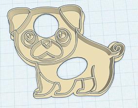 Pug cookie cutter 3D print model