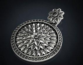 Pendant lotus flower with stones 288 3D printable model
