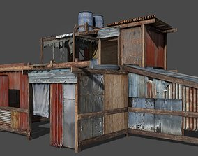 Lowpoly shanty house 3D asset