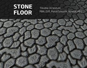 Stone floor - Tileable PBR 1K textures 3D model