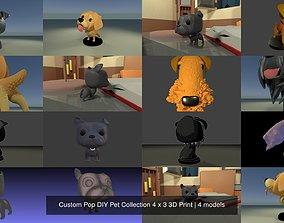 Custom Pop DIY Pet Collection 4 x 3 3D Print