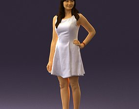 Woman in white dress 0451 3D model