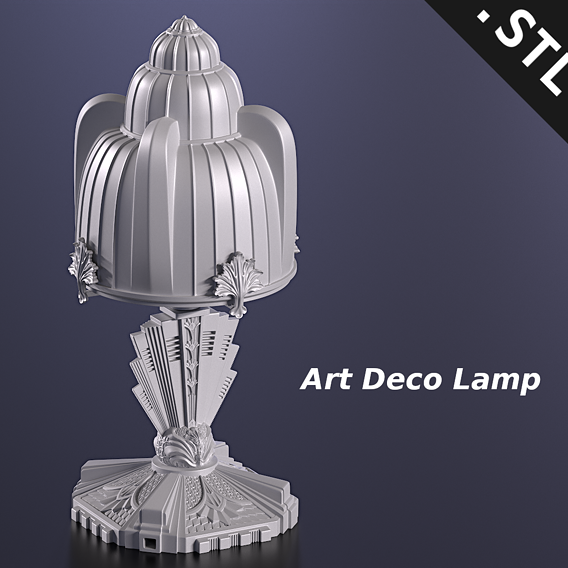 Art Deco Lamp (3D Print)