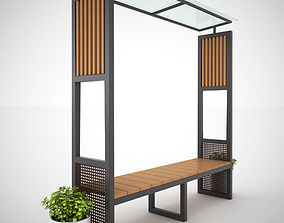 Bench or Table Set with Shelter - MODEL 3 3D