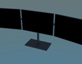 Triple monitor setup 3D