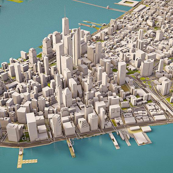 Manhattan City 3d model