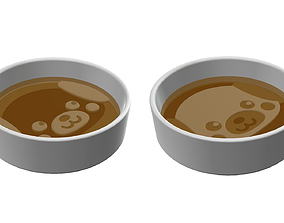 3D print model soy sause dish Two dishes set ceramic