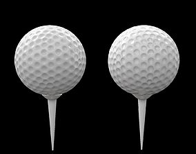 VR / AR ready Golf ball sports high and low poly 3d model