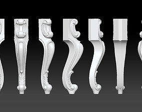 Furniture Legs 3d STL Model Relief for CNC set 015