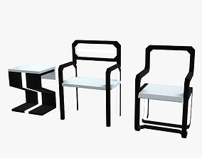 Minimalistic Sci-Fi Chairs 3D model