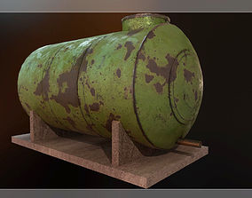 3D asset Low Poly Water Storage Tank PBR