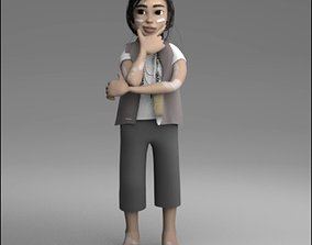 3D model American Native Girl